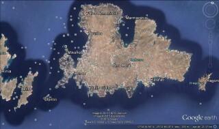 mykonos island navy blue suite