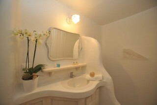 one bedroom apartment with sea view navy blue suites bathroom