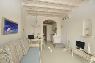one bedroom apartment with sea view navy blue suites living room